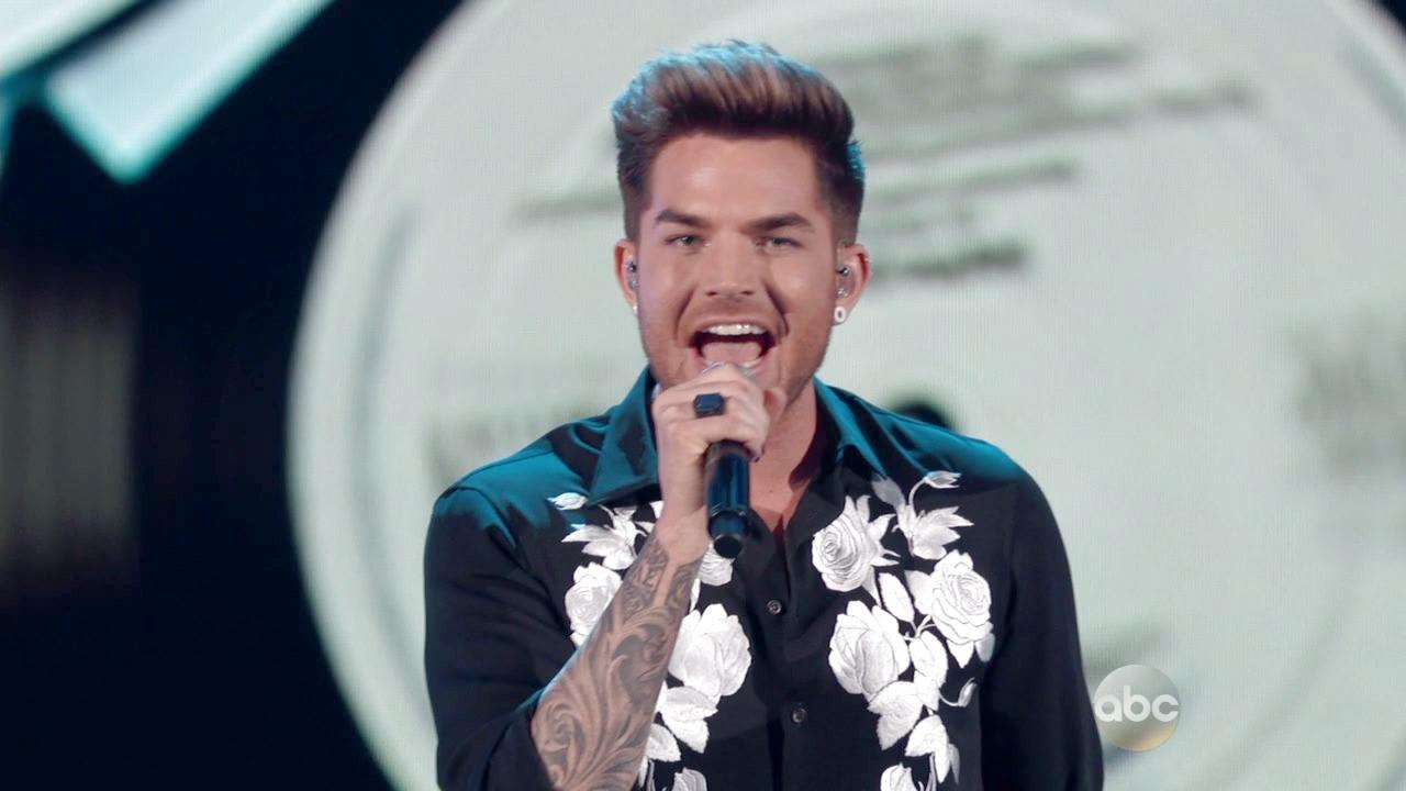 Adam Lambert Sings Faith on Greatest Hits