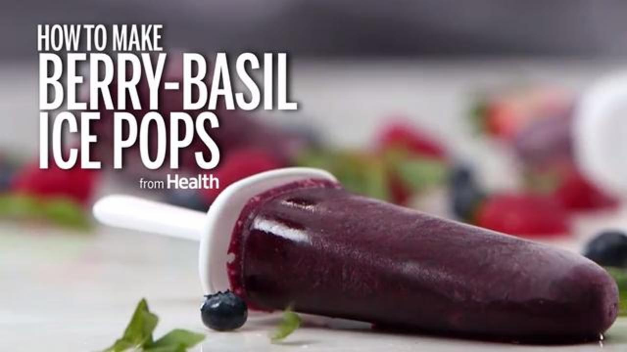 How to Make Healthy Popsicles Using Berries and Basil