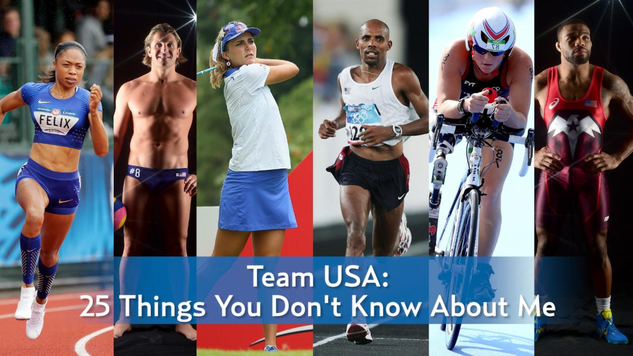 Team USA Olympic Athletes: 25 Things You Don't Know About Us