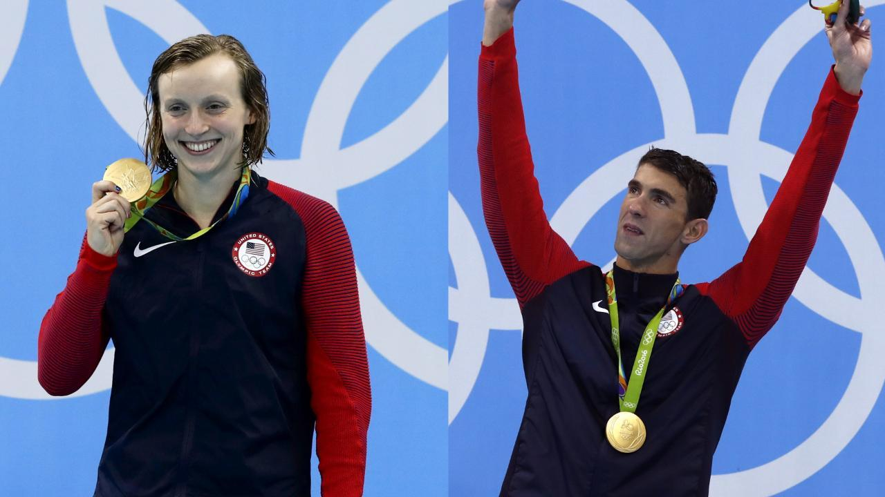 Signature moments in the pool: Michael Phelps and Katie Ledecky