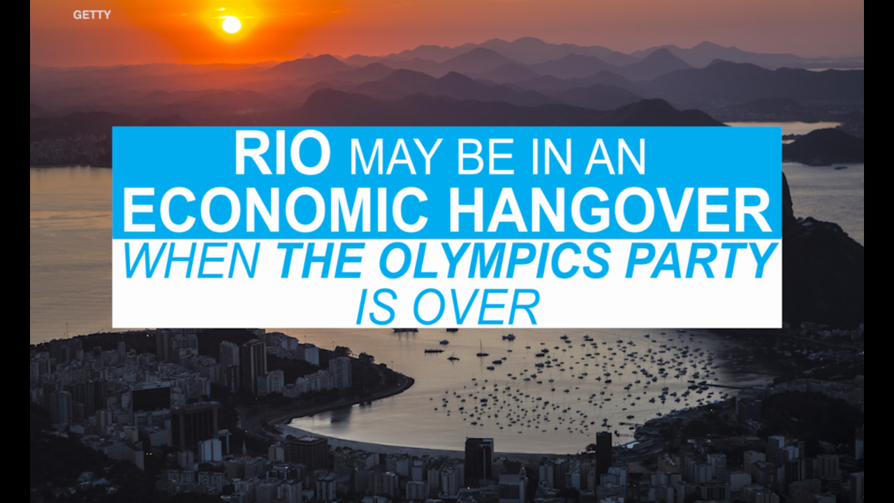 Rio may be in an economic hangover after the Olympics party is over