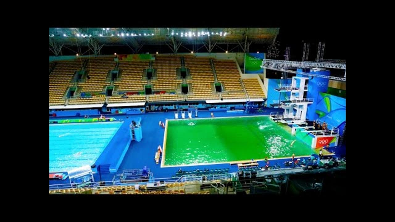 Why Is This Olympics Pool Green?
