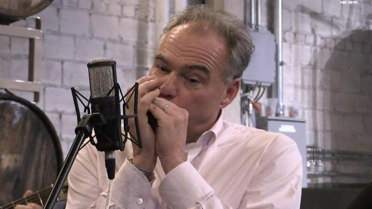 Watch Tim Kaine Play Harmonica on Campaign Trail