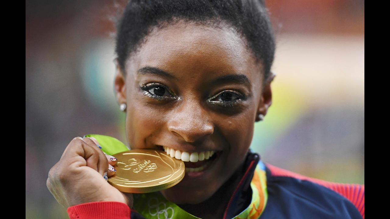 Gymnastics Simone Biles Wins Record Equalling Fourth Gold