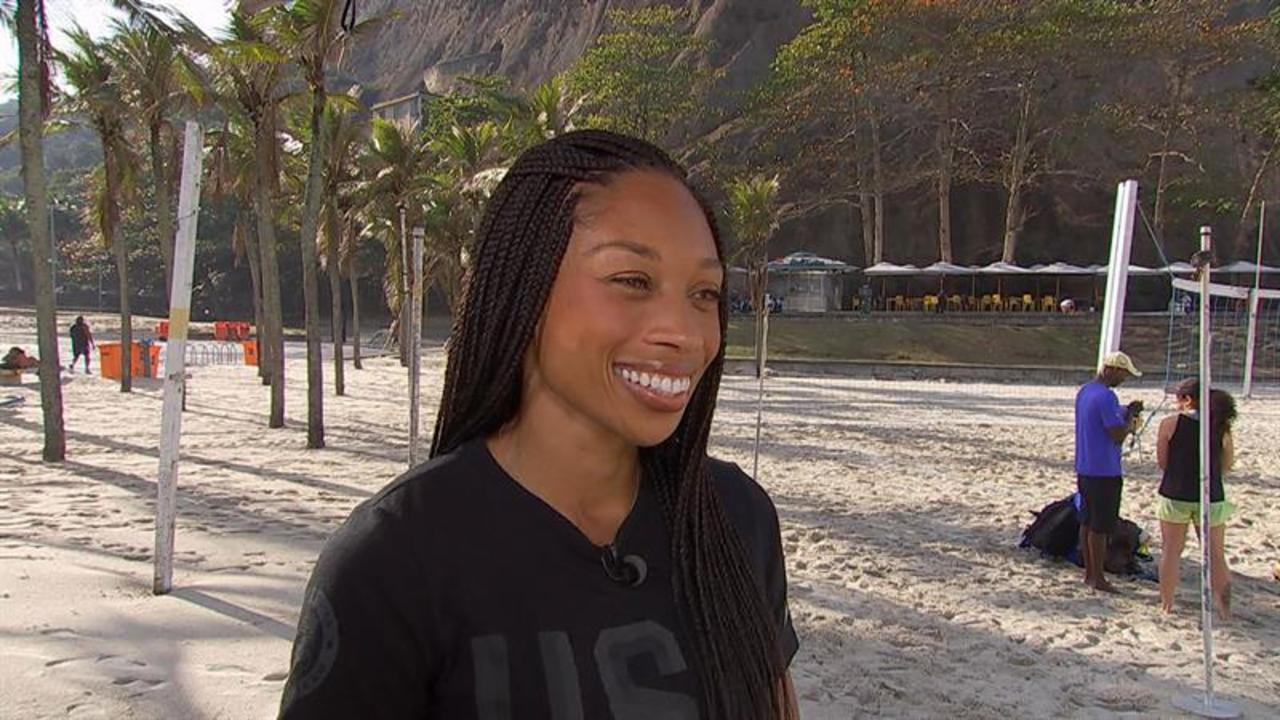 Olympic Track Queen Allyson Felix Talks That Crazy Finish-Line Dive