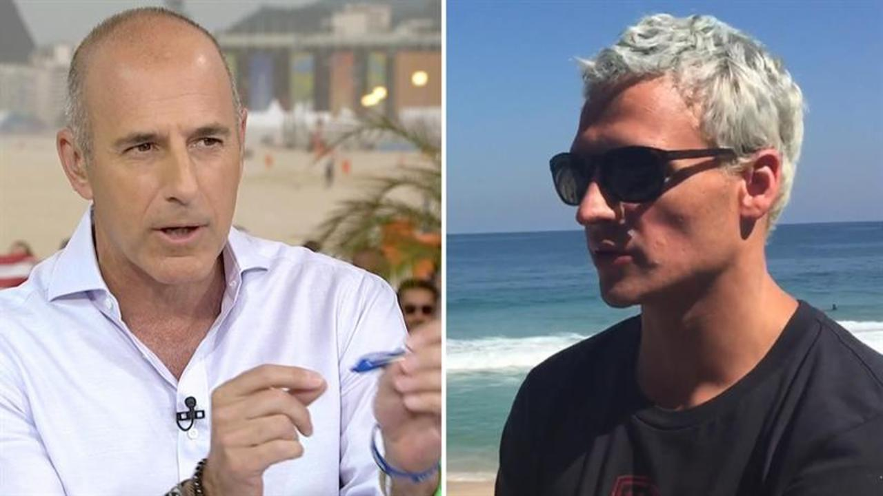 Ryan Lochte to Matt Lauer on alleged robbery: 'We wouldn't make this up'