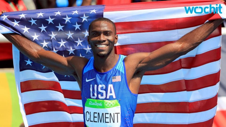 Team USA's Kerron Clement Wins 400m Hurdles