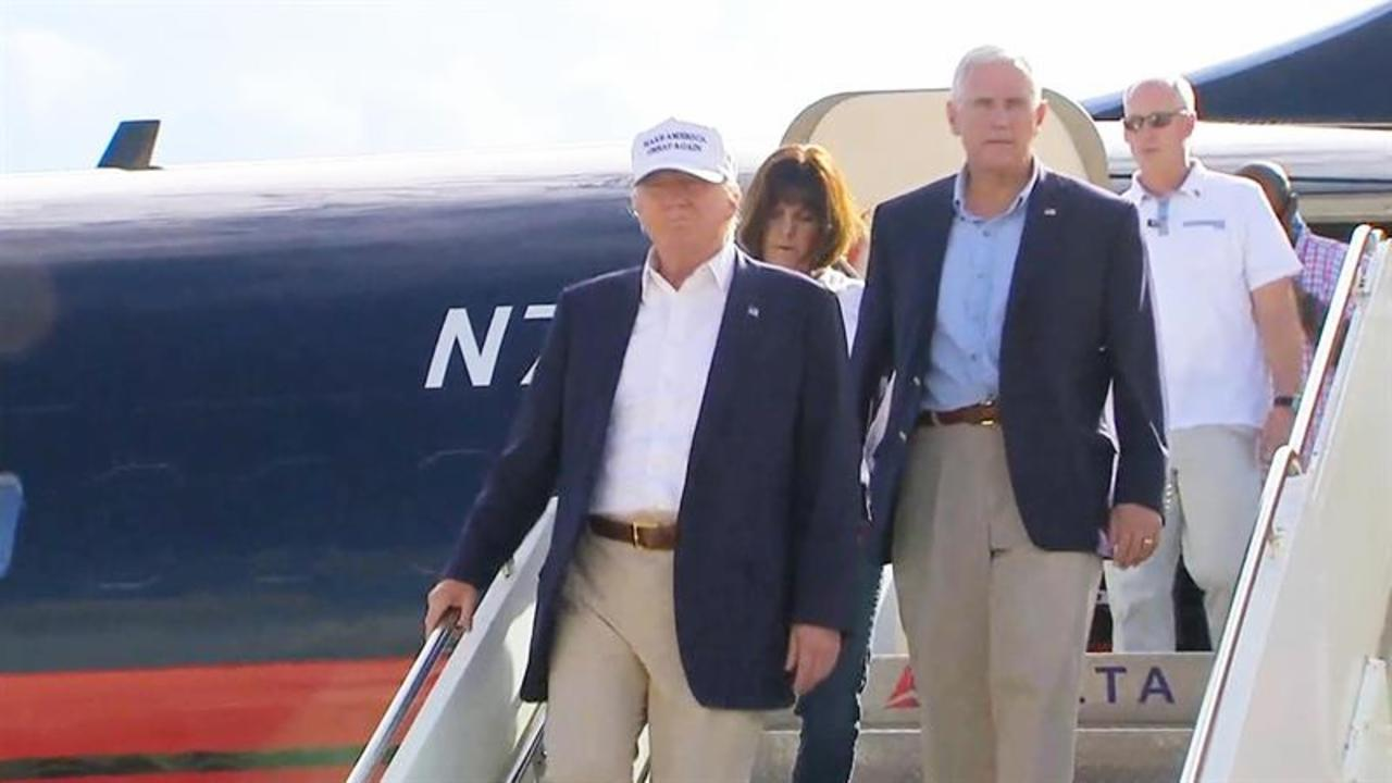 Trump Arrives in Baton Rouge, Louisiana