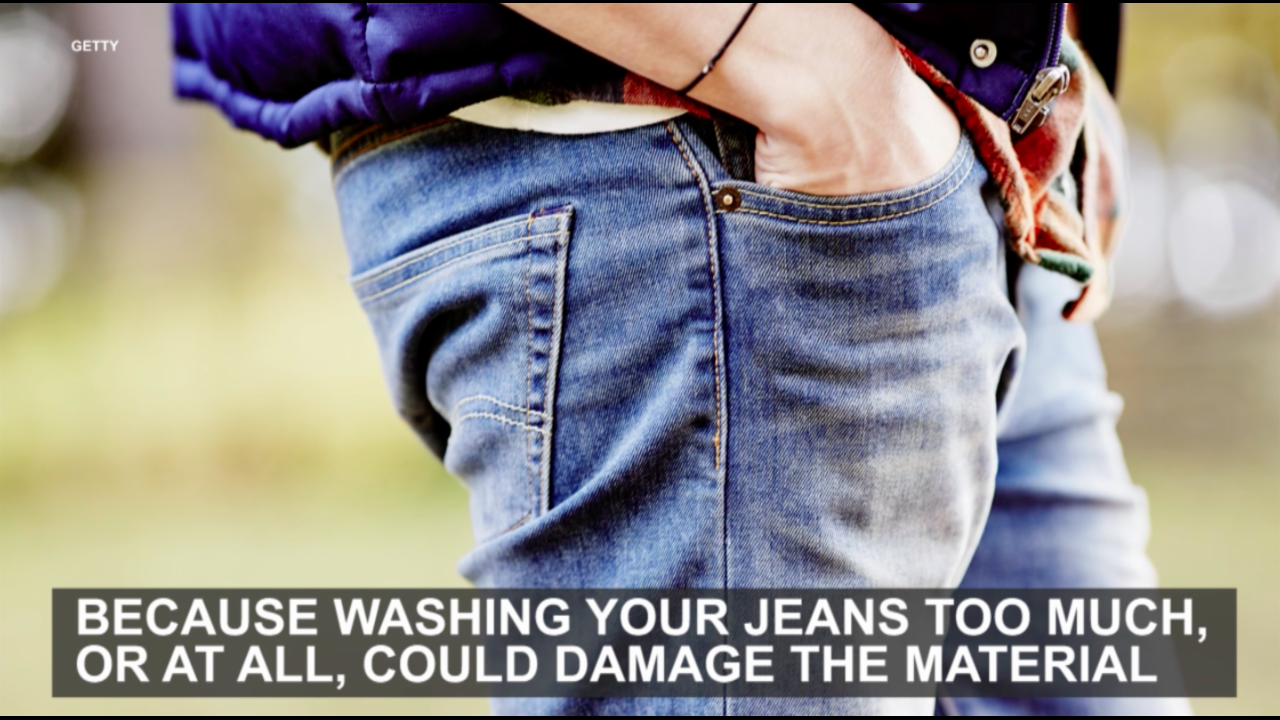 There are two pretty good reasons to not wash your jeans