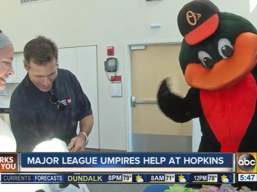MLB umpires help at Hopkins