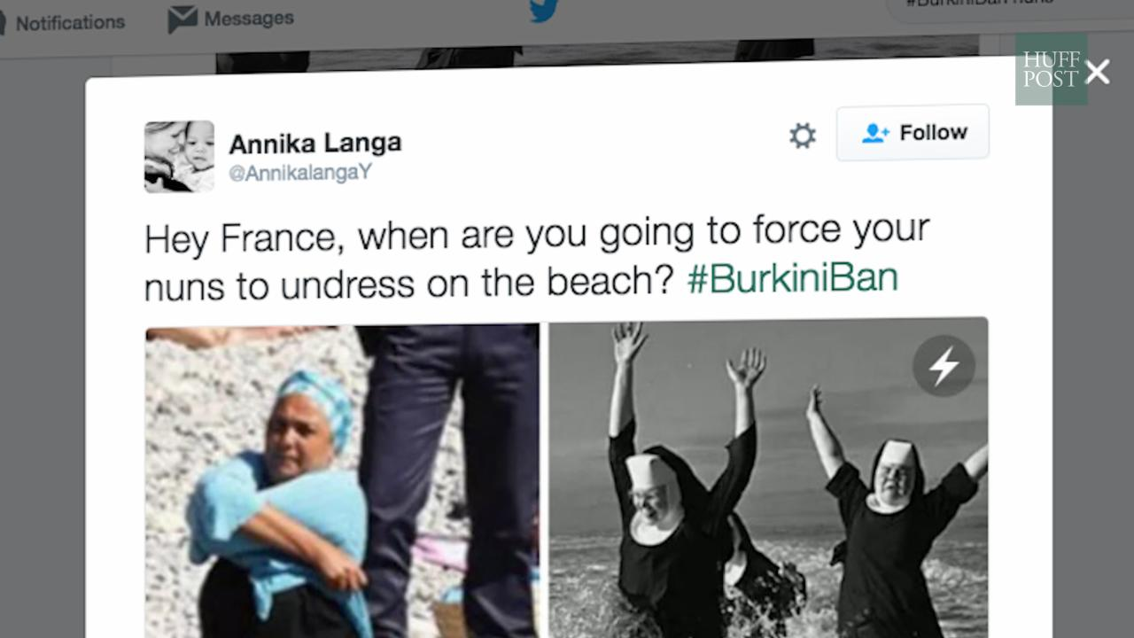 Twitter Reacts to the #BurkiniBan