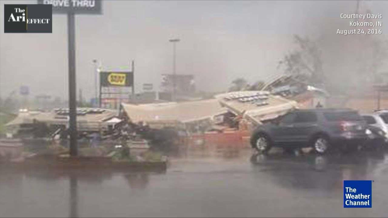 Tornado Flattens Starbucks in Indiana