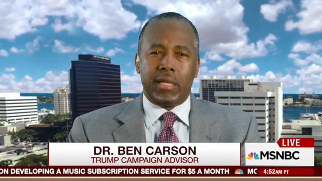 Ben Carson Says Both 'Elderly' Candidates Trump And Clinton Should Release Their Medical Records