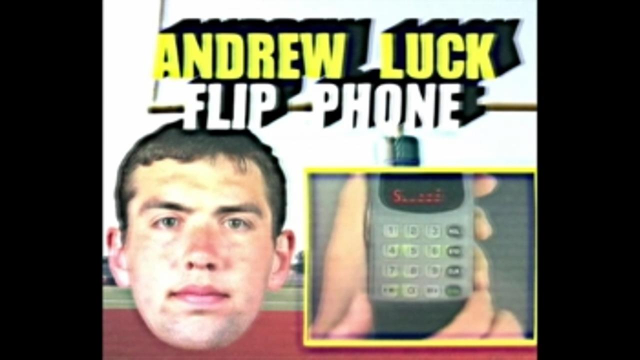 Presenting: The Andrew Luck Flip Phone!