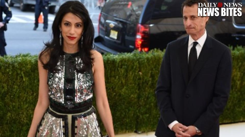 Huma Abedin and Anthony Weiner are separating