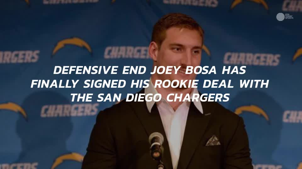 Joey Bosa ends holdout, signs contract with Chargers