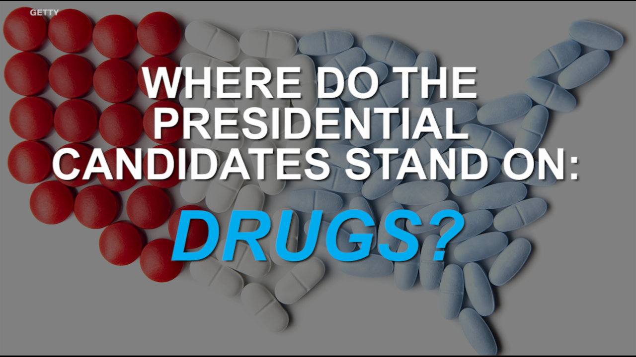 Where Donald Trump and Hillary Clinton stand on drugs