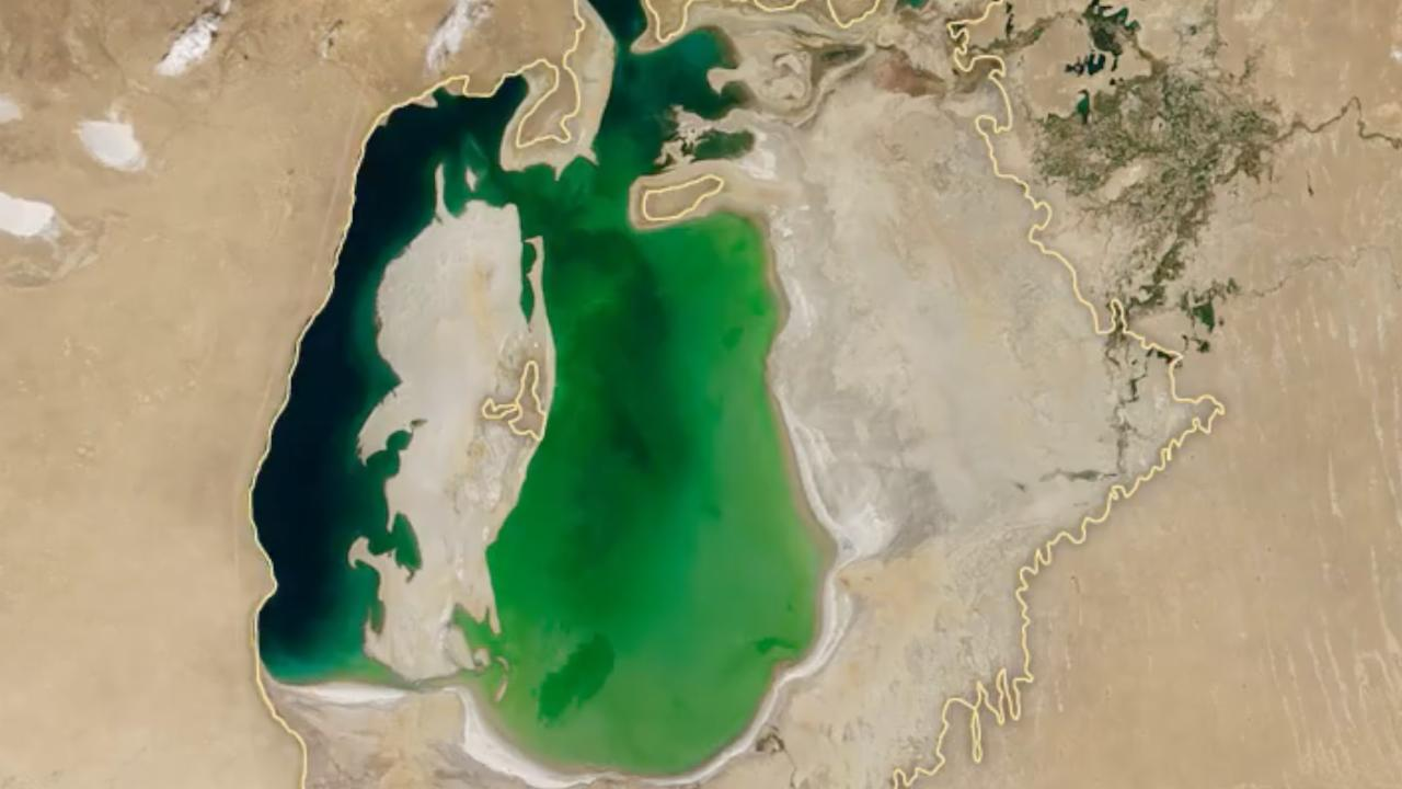Shocking Satellite Images Show Aral Sea Has Almost Disappeared