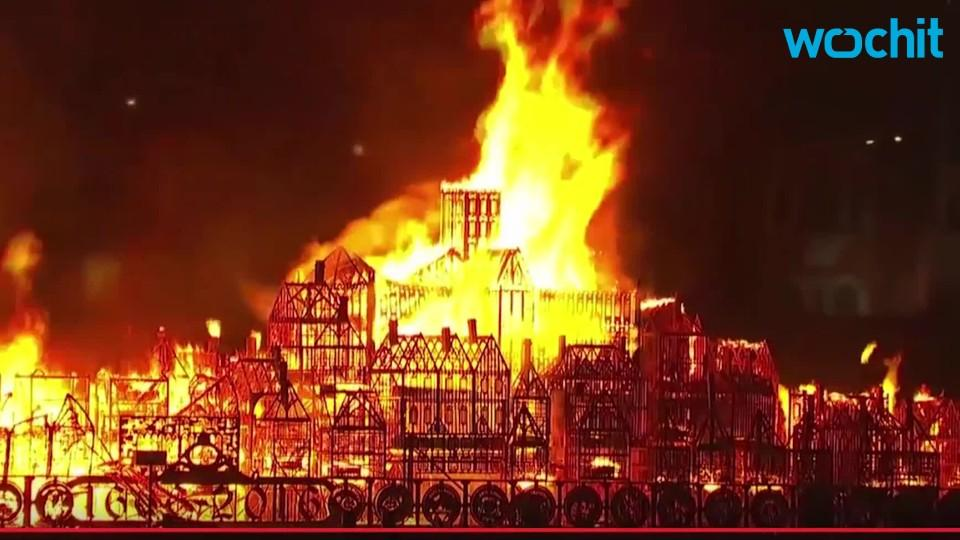 350th Anniversary Of Great Fire Sets London Ablaze