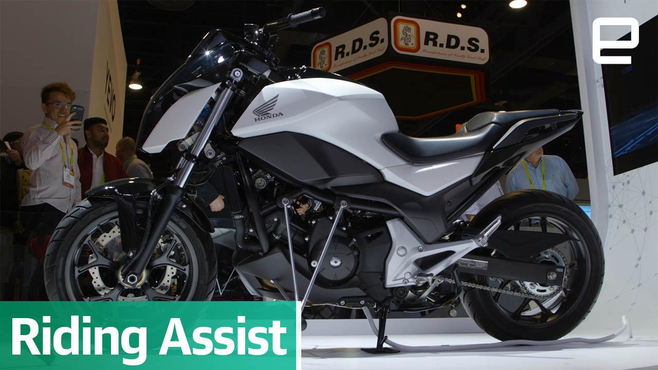 Honda's amazing self-balancing motorcycle defies gravity