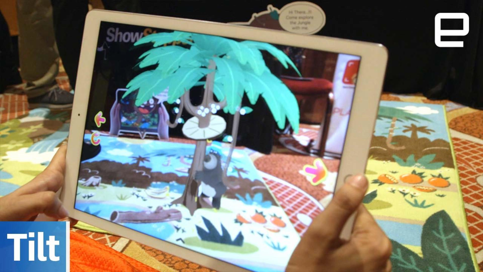 Tilt tells augmented reality stories to kids with a rug and duvet