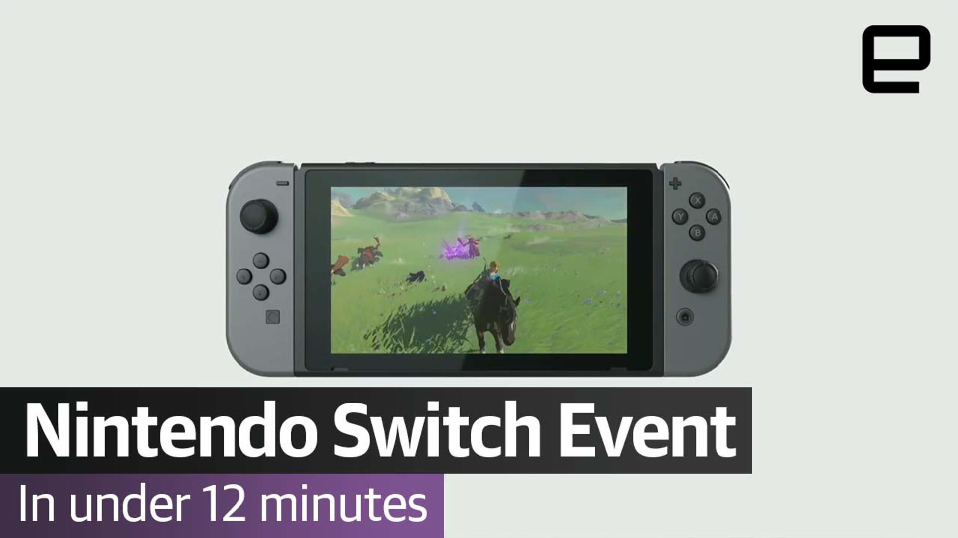 Watch the Nintendo Switch event in less than 12 minutes