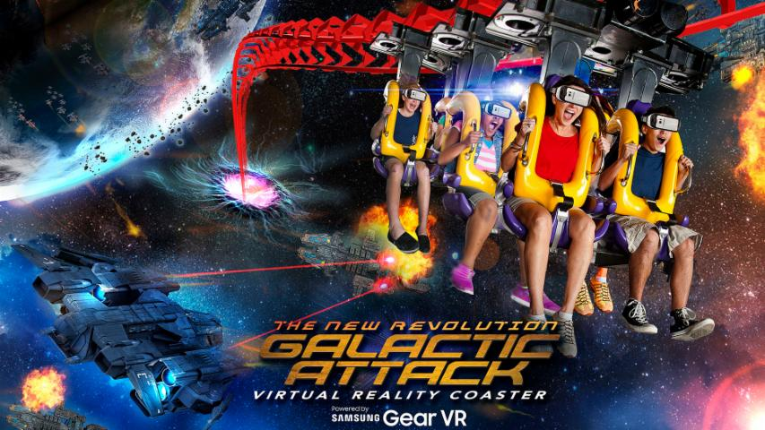 Six Flags 'Galactic Attack' Mixed Reality Coaster