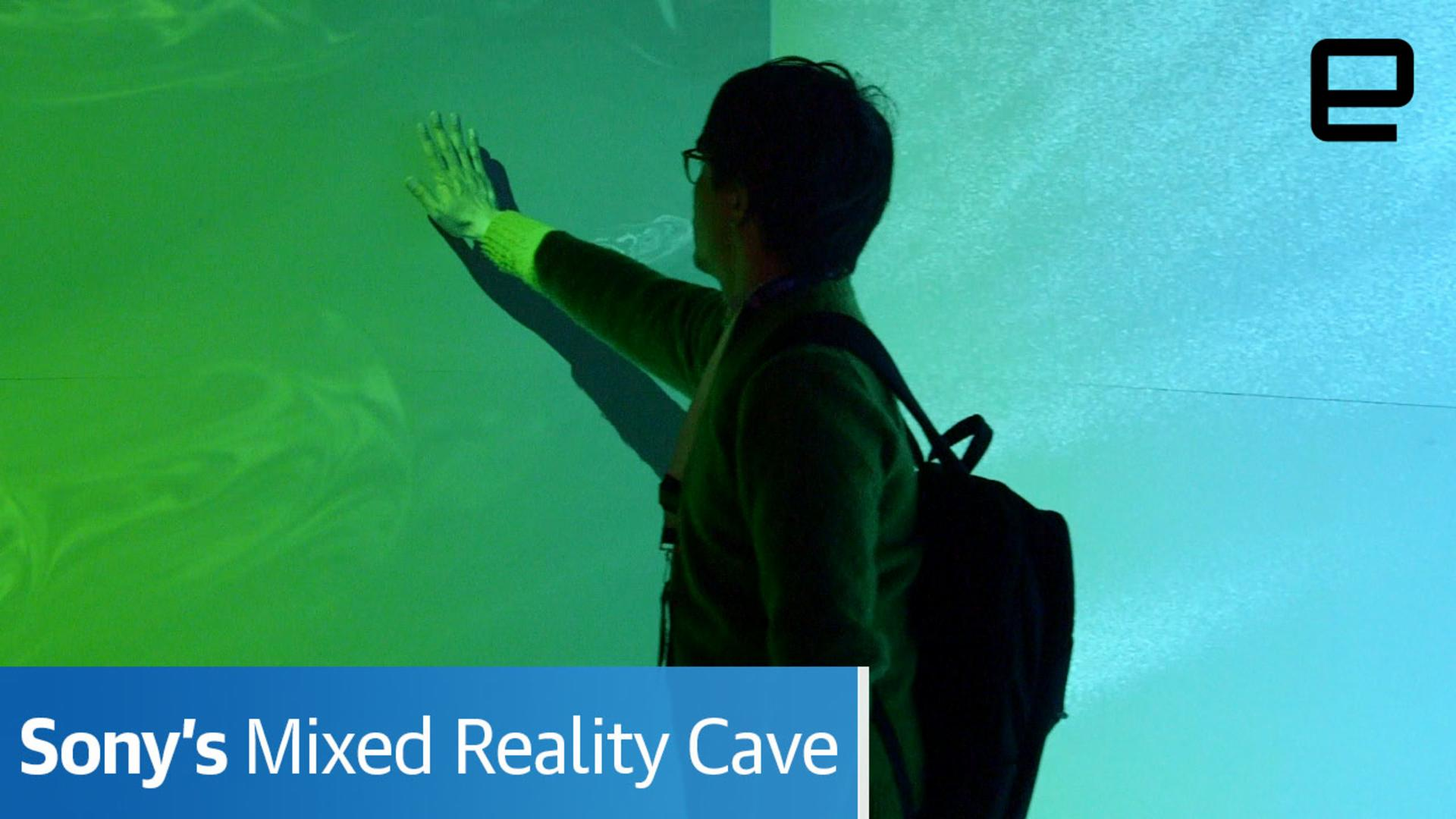 Sony's mixed-reality 'cave' is an immersive experience for groups