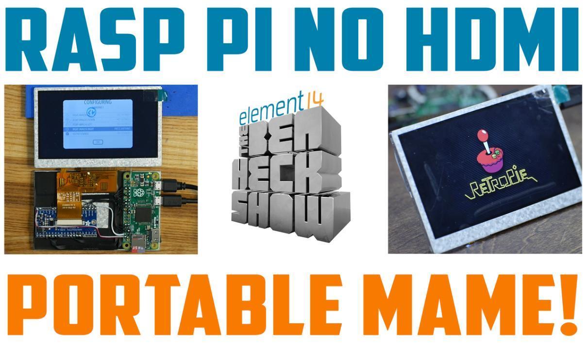 Ben Heck's Raspberry Pi-based portable MAME arcade