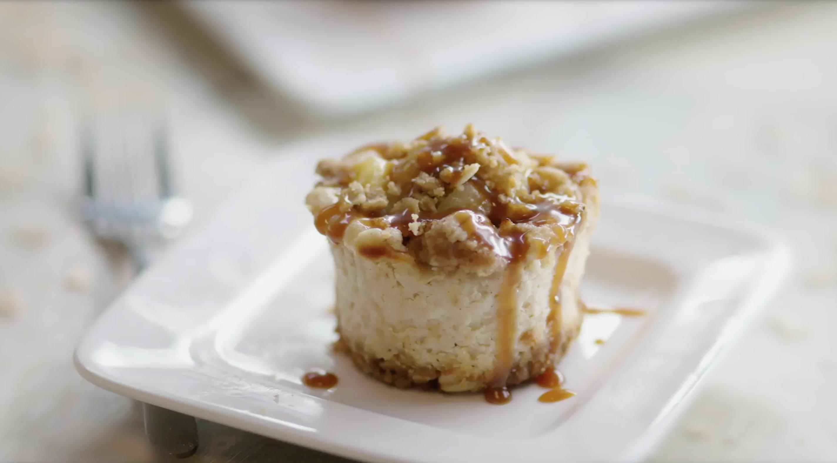 Best Bites: Caramel apple crisp mini cheesecakes