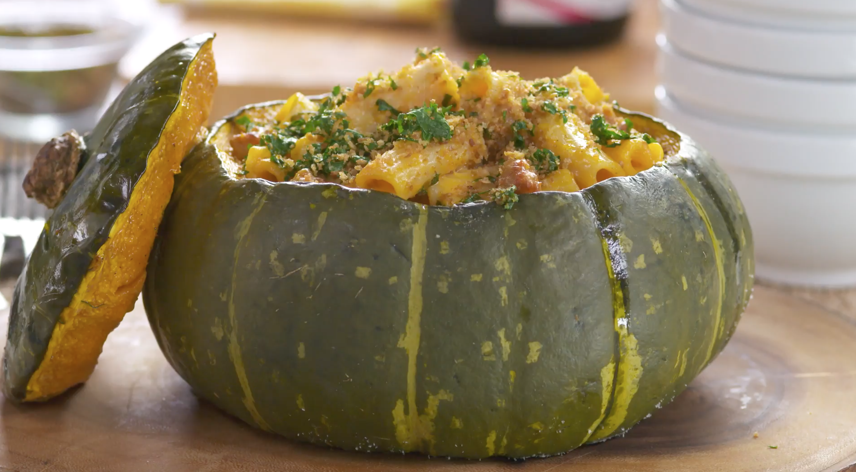 Best Bites: Chorizo sage mac and cheese baked in a squash