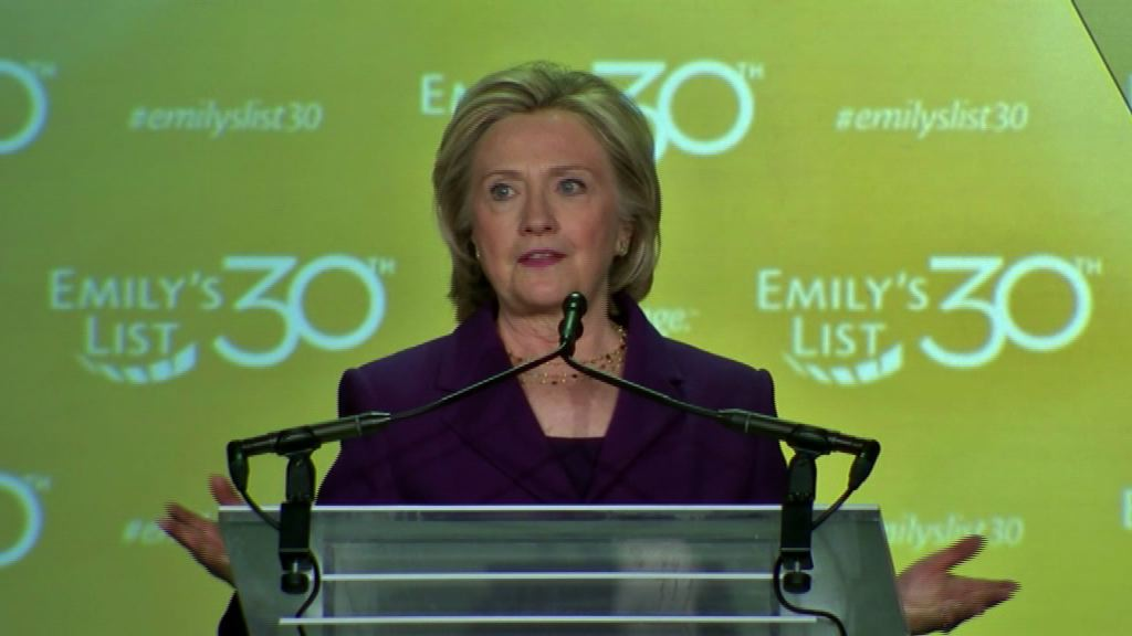 Hillary Clinton Talks Economy at EMILY Gala