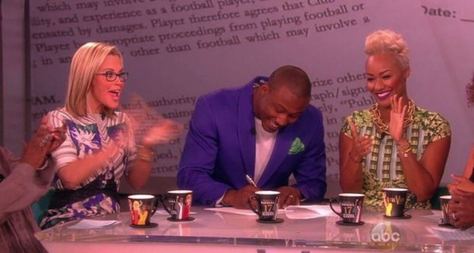 Brandon Marshall Signs $30 Million Contract Extension on 'The View'