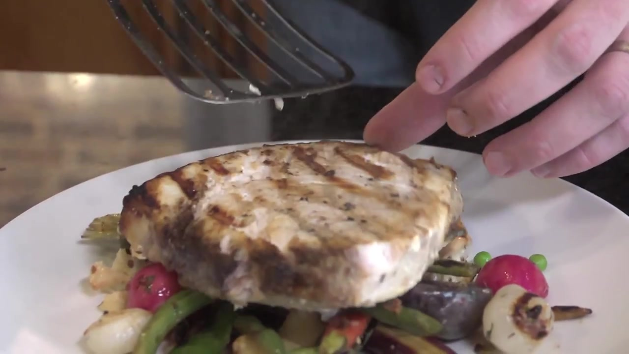 How to Make Grilled Swordfish and Roasted Spring Vegetables