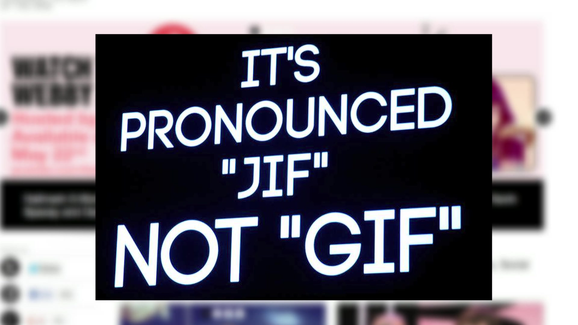 Jif or Gif? Founder of .Gif Officially Declares How It's Pronounced