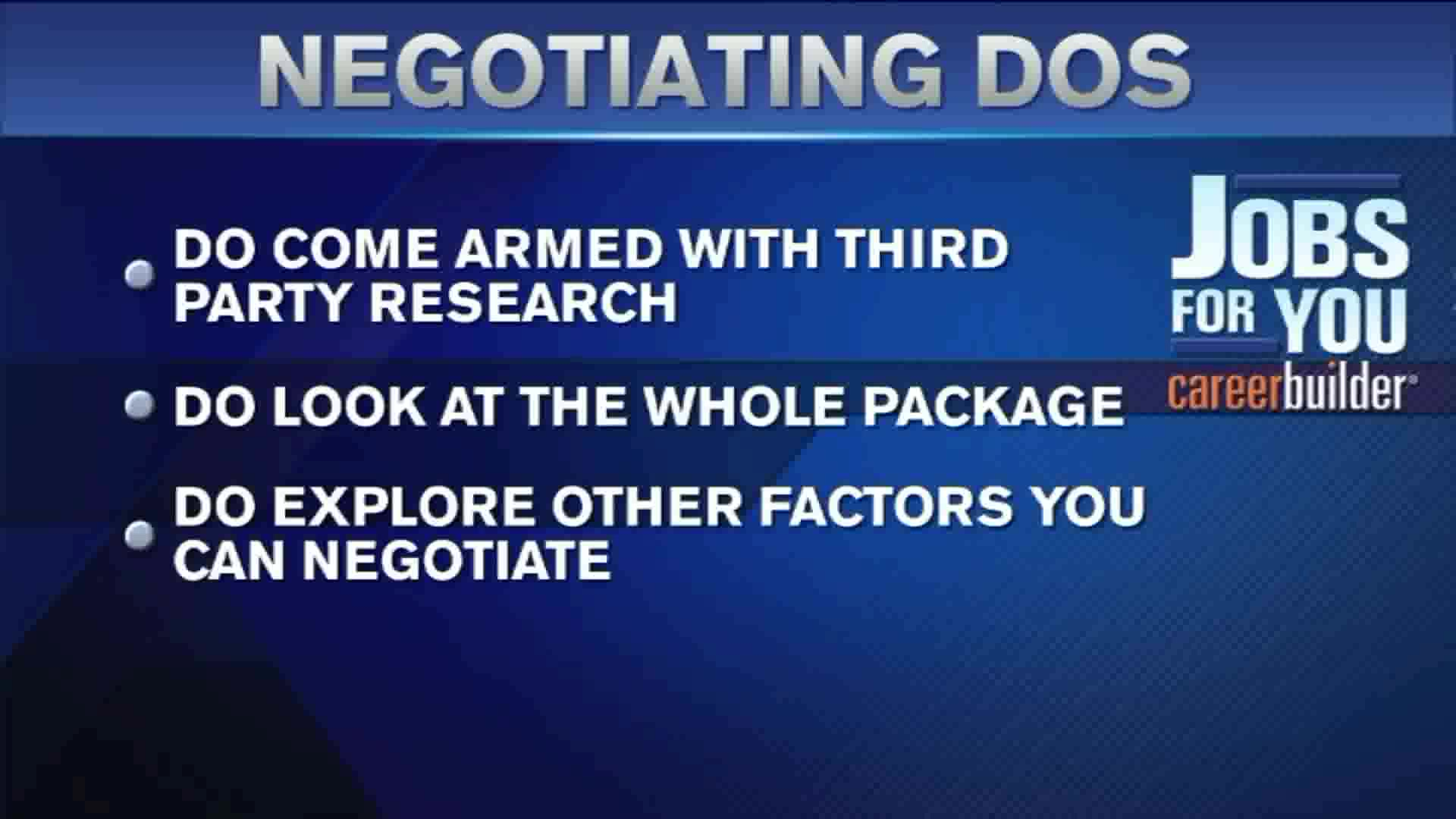 Dos and Dont's For Negotiating Your Salary