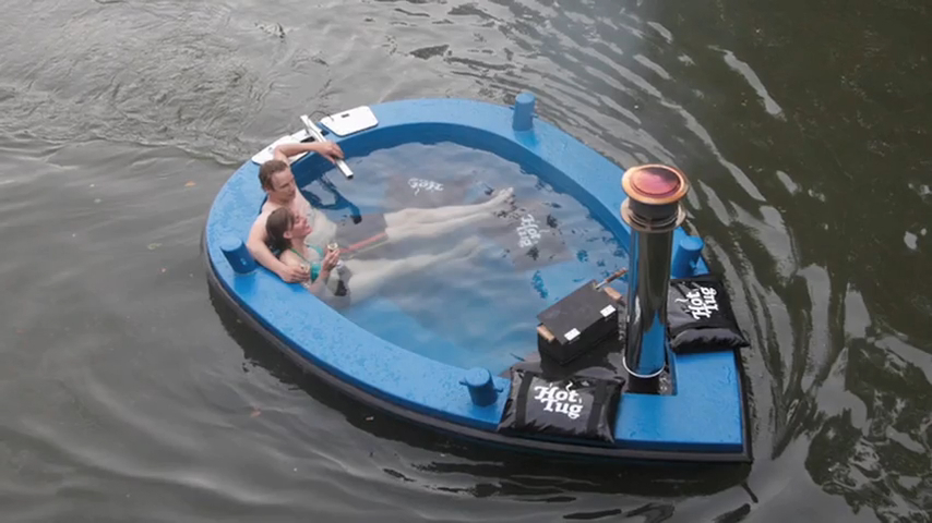 HotTug: Combination of Boat and Hot Tub