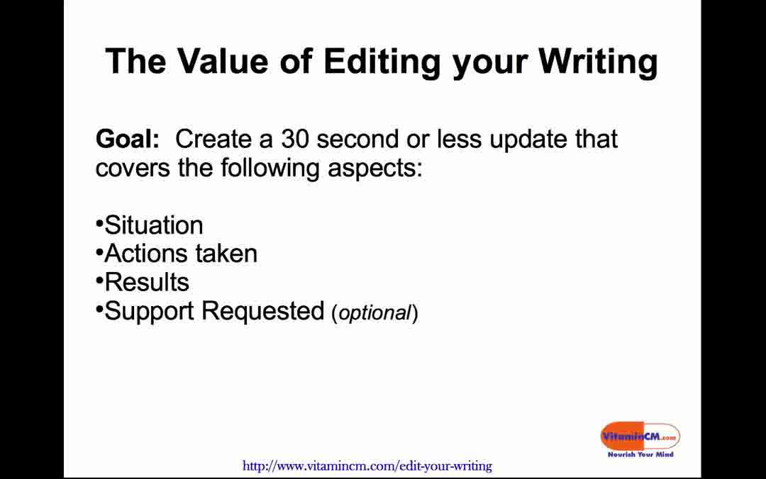 Why You Should Edit Your Writing