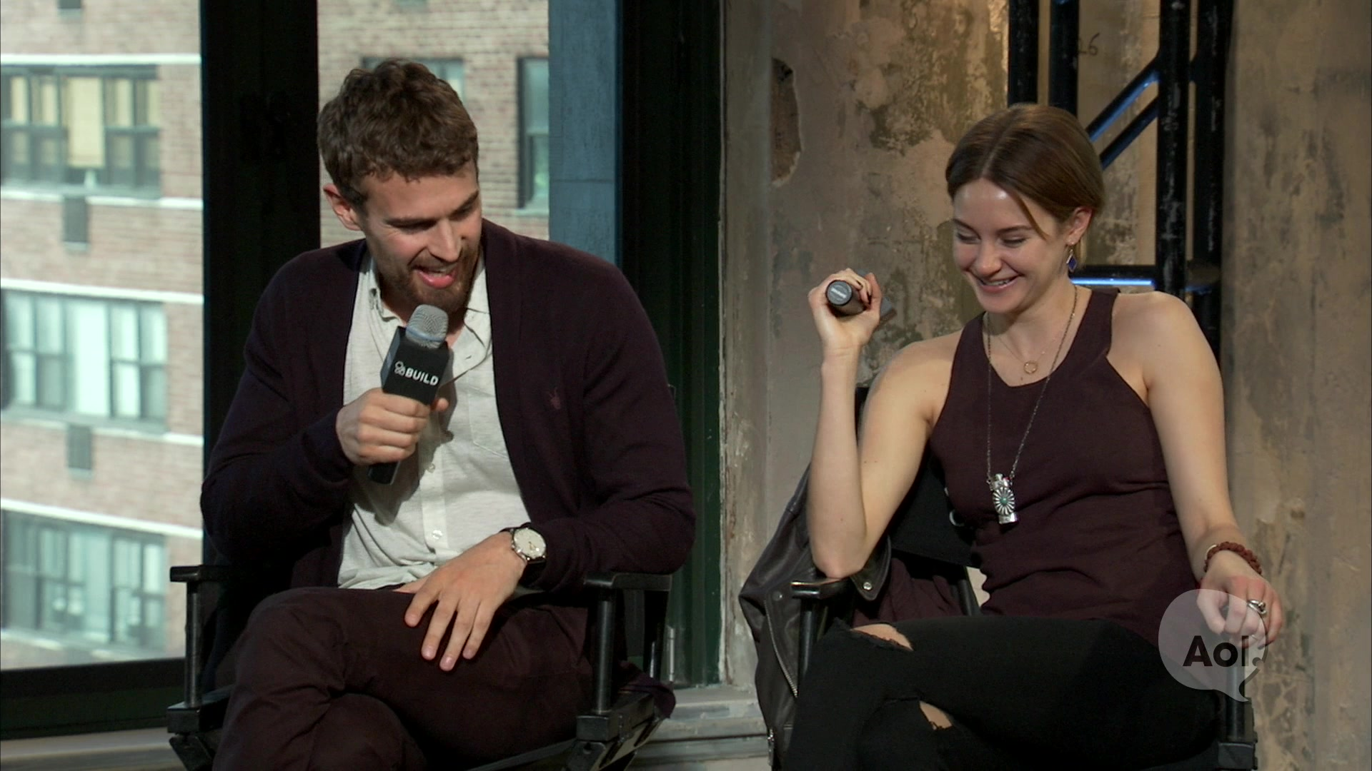 Shailene Woodley and Theo James on Social Media