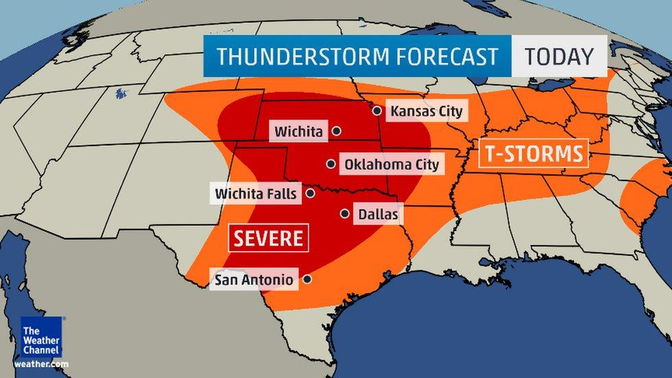 Severe Thunderstorm Watches in Place for Plains