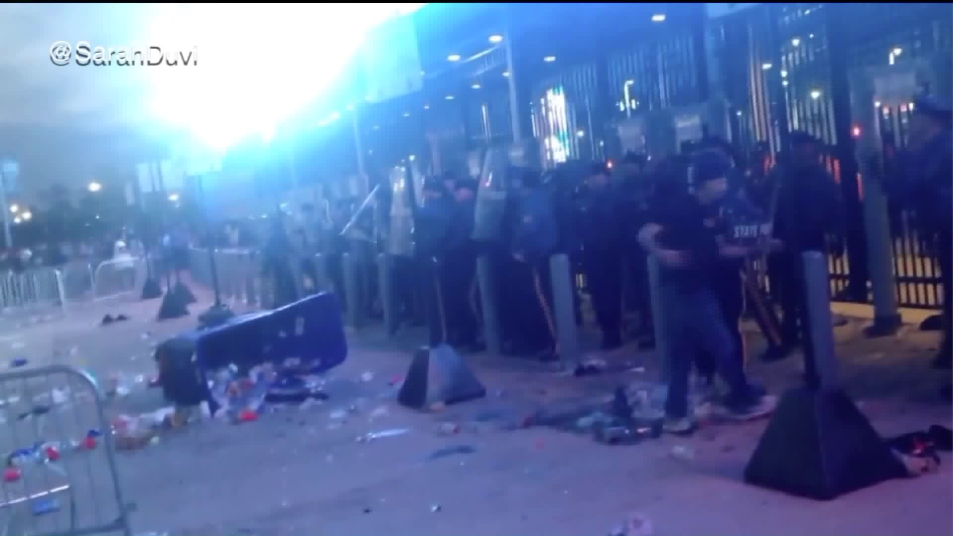 Police Reportedly Use Tear Gas as Concert Erupts Into Chaos