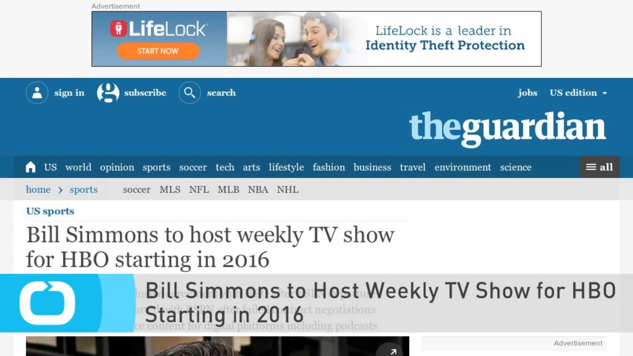 Bill Simmons to Host Weekly TV Show for HBO Starting in 2016