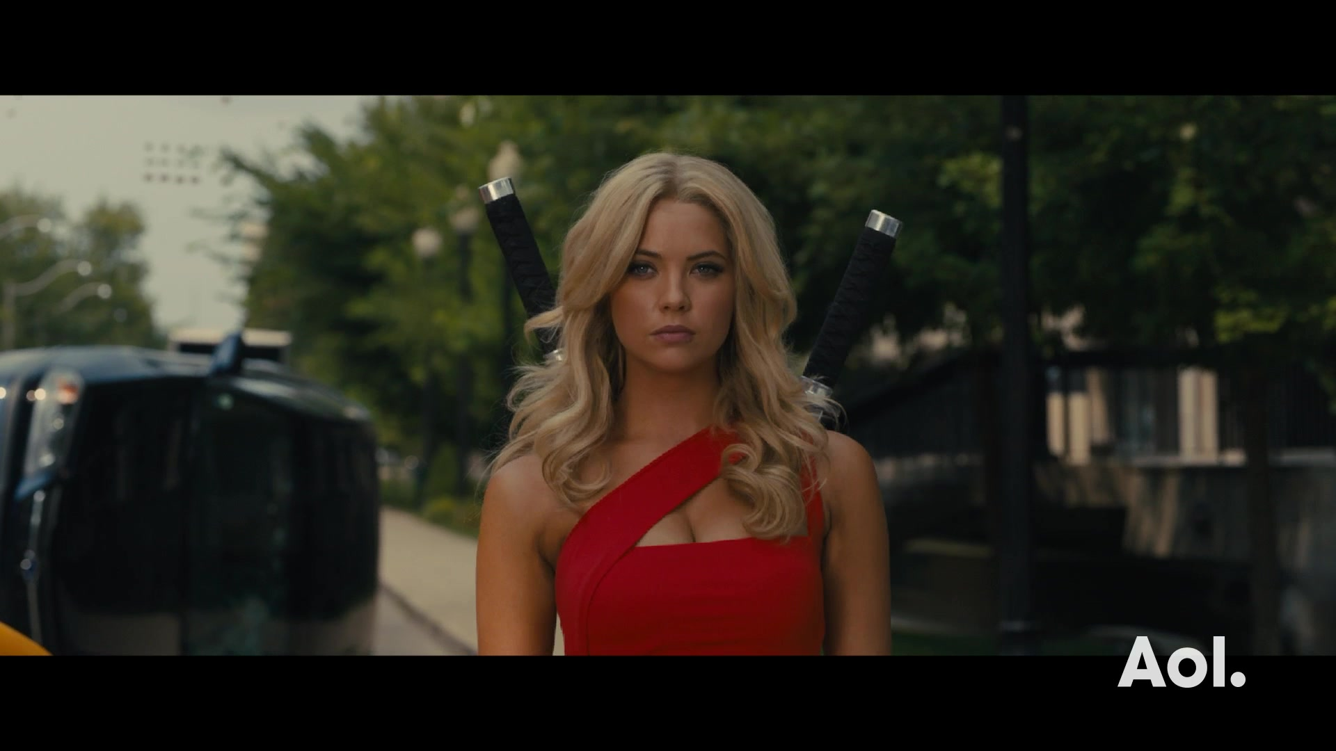 "Ashley Benson Discusses ""Pixels"""