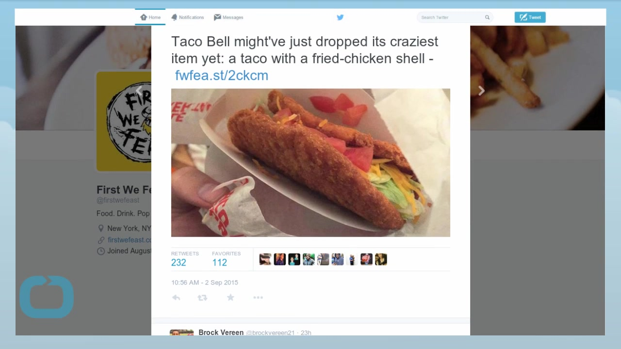 Is There a New Taco Bell Item Using Fried Chicken as a Taco Shell?!?!!?