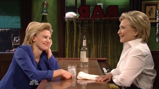 Clinton Serves Herself a Pick-Me-Up on 'SNL'