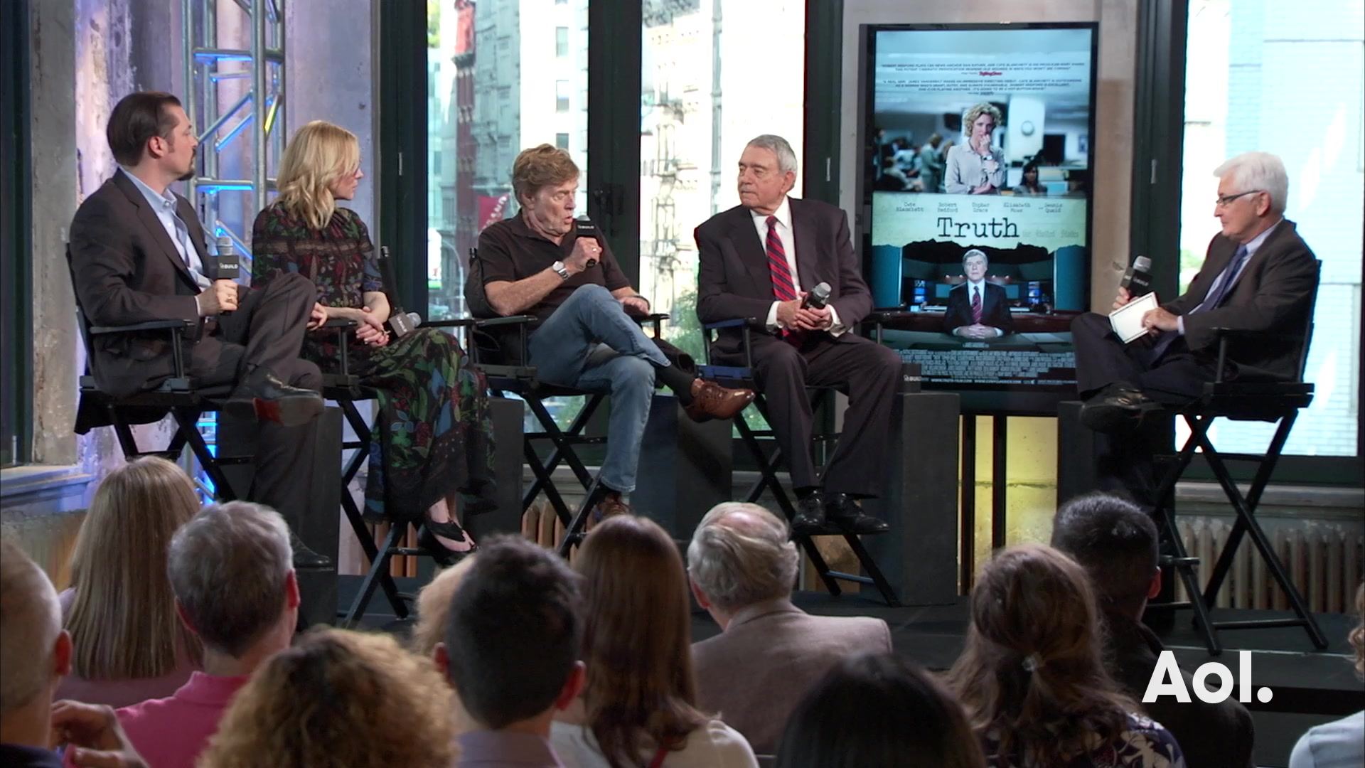 "Robert Redford, Cate Blanchett, Dan Rather and James Vanderbilt on ""Truth"""