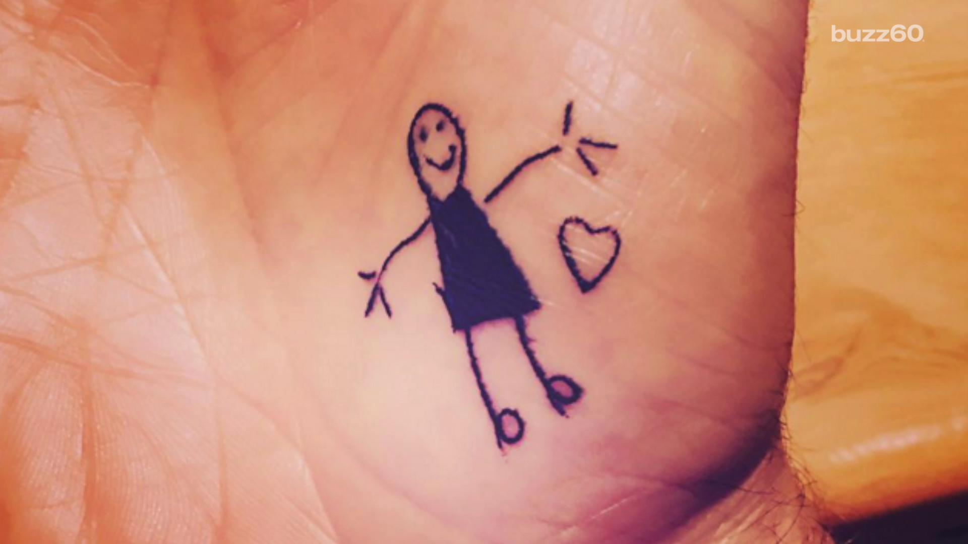 David Beckham's Newest Tattoo Is His Daughter's 'Scribble'