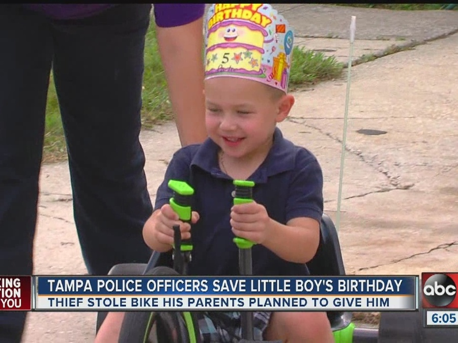 Tampa Police Save Boy's Birthday