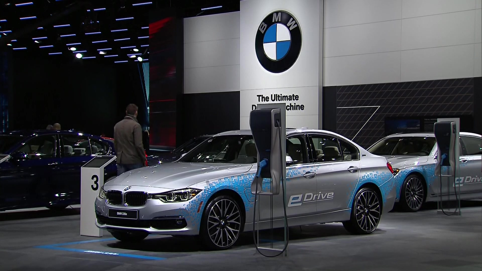 BMW I8 and BMW 740e XDrive at 2016 NAIAS Detroit