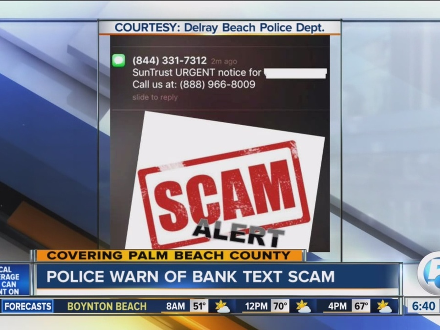 Scammers Send Message That Appears to Be from Bank